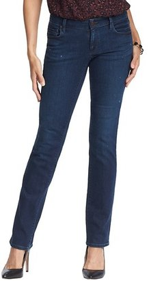 LOFT Tall Distressed Modern Straight Leg Jeans in Vintage Autumn Wash