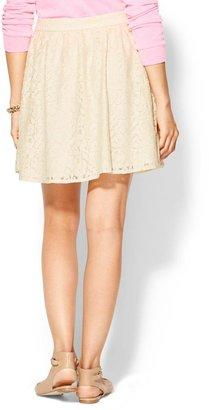 Pim + Larkin Lace Circle Mini Skirt