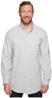 Columbia Big Tall Tamiamitm II L/S (Cool Grey) Men's Long Sleeve Button Up