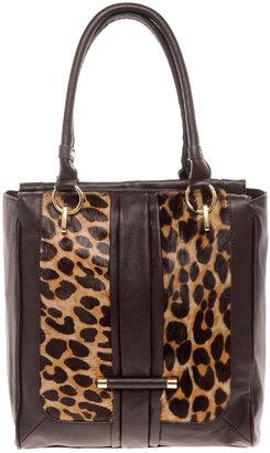 Hype George Leather Leopard Crossbody Satchel
