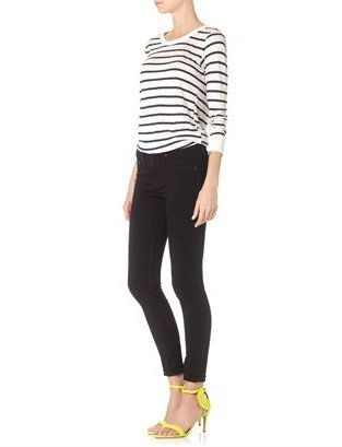 Rag and Bone Rag & Bone Black Plush High Rise Skinny Jeans